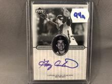 2000 Upper Deck Legends Gary Carter Autographed Card