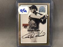 2000 Fleer Greats of the Game Ralph Kiner Autographed Card