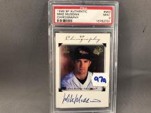 1998 SP Authentic Mike Mussina Chirography Autographed Card PSA 9