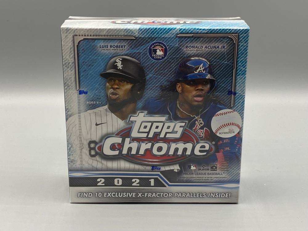 2021 Topps Chrome Baseball Mega Box Sealed