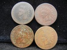 (4) 1879 Indian Head Cents