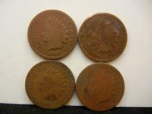 (4) 1865 Indian Head Cents