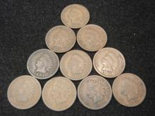 (8) 1904 & (2) 1906 Indian Head Cents