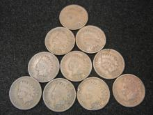 (10) 1903 Indian Head Cents