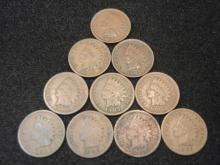(10) 1905 Indian Head Cents