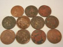 (11) Indian Head Cents Mixed Dates