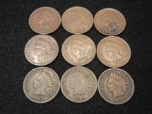 (9) Indian Head Cents