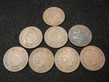 (2) 1905 & (5) 1907 Indian Head Cents