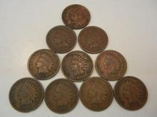 (10) 1900's Indian Head Cents