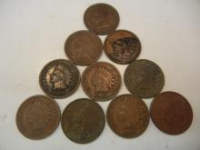 (10) 1907 Indian Head Cents