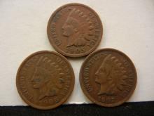 1905, 1906, & 1907 Indian Head Cents
