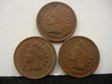 1904, 1905, & 1906 Indian Head Cents