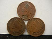 1902, 1903, & 1904 Indian Head Cents