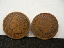 1892 & 1905 Indian Head Cents