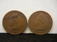 1897 & 1907 Indian Head Cents