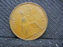 1965 British One Penny