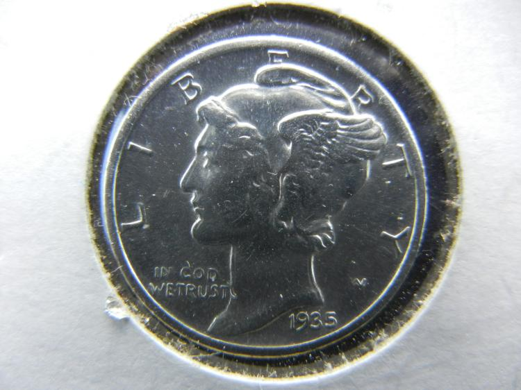 SHARP 1935 MERCURY DIME