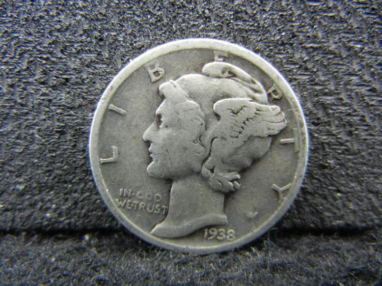 1938-S Mercury Dime