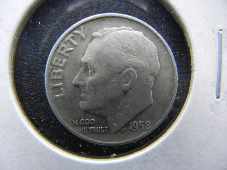 1958-D Roosevelt Dime - 90% Silver