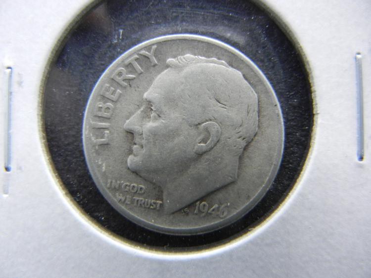 1946 Roosevelt Dime - 90% Silver