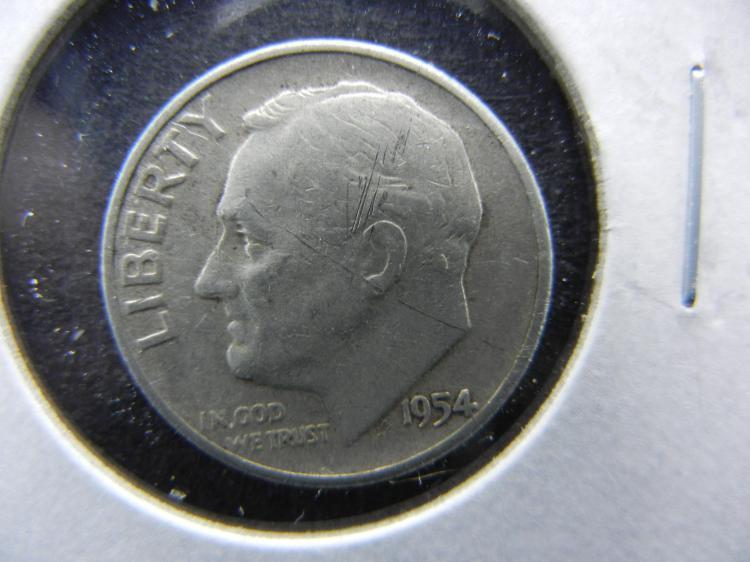 1954 Roosevelt Dime - 90% Silver