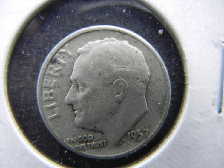 1957 Roosevelt Dime - 90% Silver