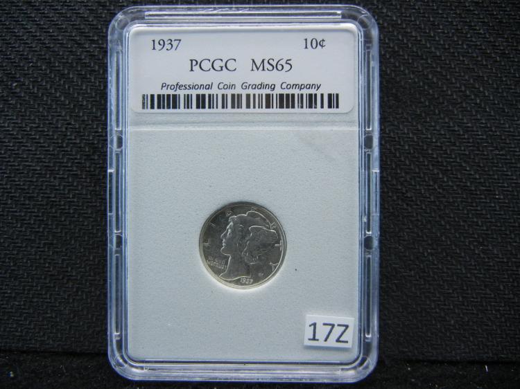 1937 Mercury Dime PCGC MS 65 - NOT PCGS!!!