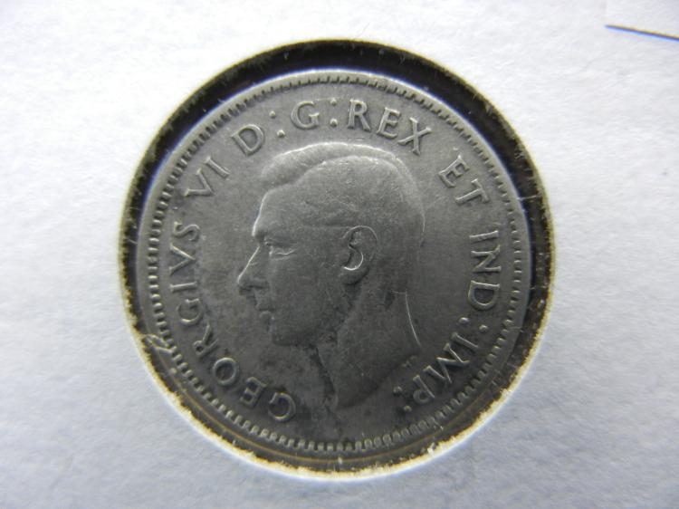 1947 Canadian Dime - Scarce Date - 80% Silver