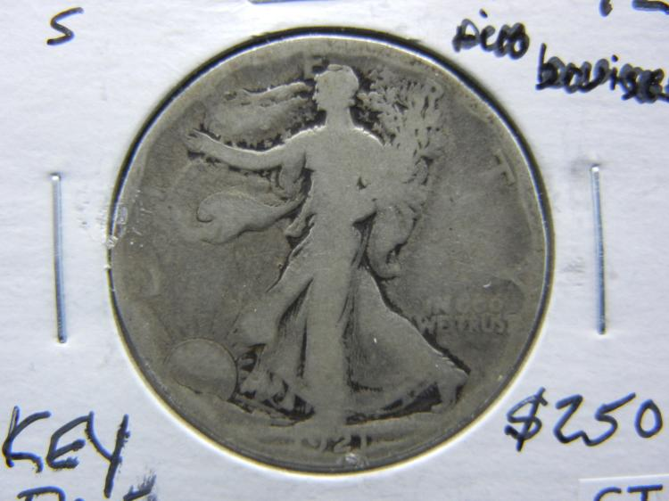 1921-S Walking Liberty Half Dollar - KEY DATE