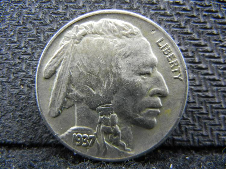 1937-S Buffalo Nickel (Only 5.6 Mill Minted)!