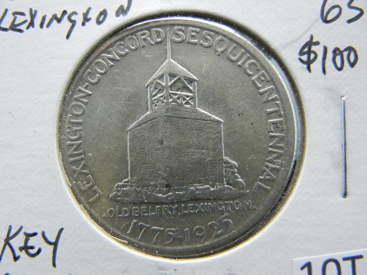 1925 Lexington - Concord Sesquicentennial Commemorative Half Dollar