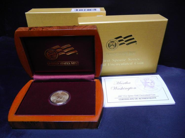 GOLD - 2007-W (West Point) First Spouse Gold UNC Coin 1/2 Troy Ounce .9999 Fine Gold