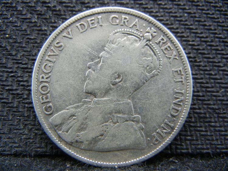 1917 Newfoundland 50 Cents - 92.5% Silver
