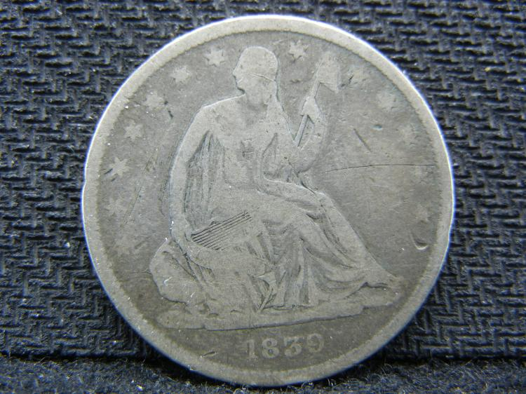 1839 Seated Liberty Half Dollar - Small Letters? - Key Date