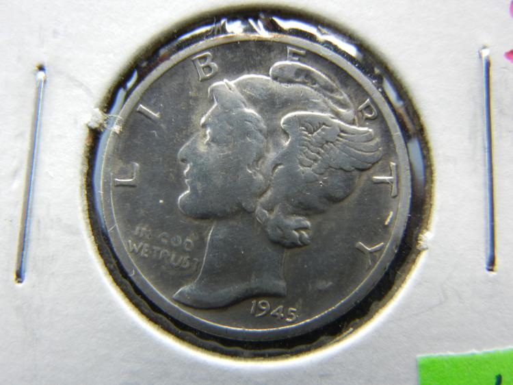 1945-S Silver Liberty 10c, (Micro-S), High Grade, 90% Silver!