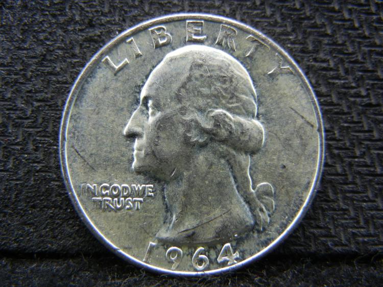 1964 Washington Quarter, (Uncirculated),90% Silver!