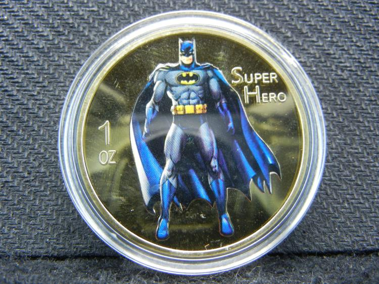(BATMAN), Gold Enhanced, Beautiful Mirror/Proof, Encapsulated For Future Preservation, Great Gift!