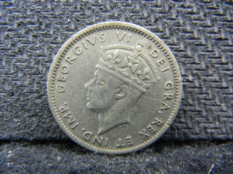 1942 Newfoundland 10 Cents - 92.5% Silver