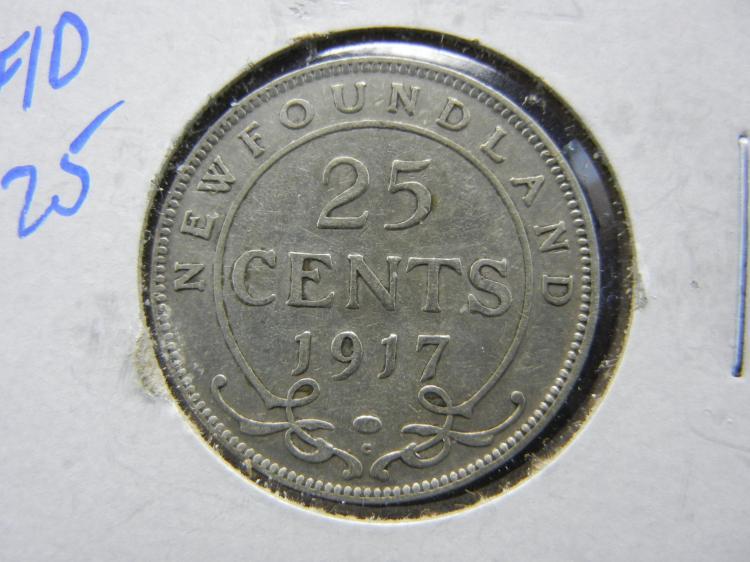 1917-C Newfoundland 20 Cents - 92.5% Silver