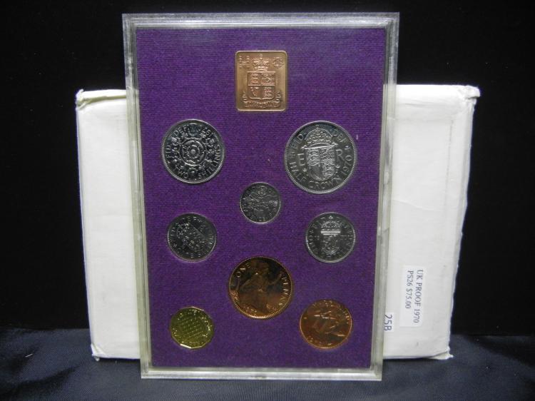 1970 U.K. & Ireland Mint Proof Coin Set - Crack in Case