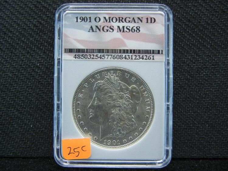 1901-O Morgan Silver Dollar, MS68 ANGS, (Check PCGS Website Out On This Grade)! ONLY 13.3 Mill Minted, Beautiful Coin, Rare At This Grade!