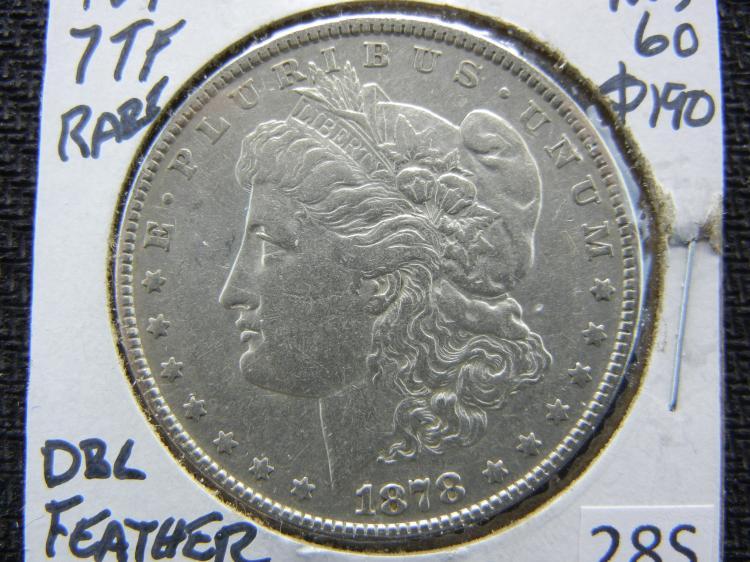 1878 Morgan Dollar - 7 TF