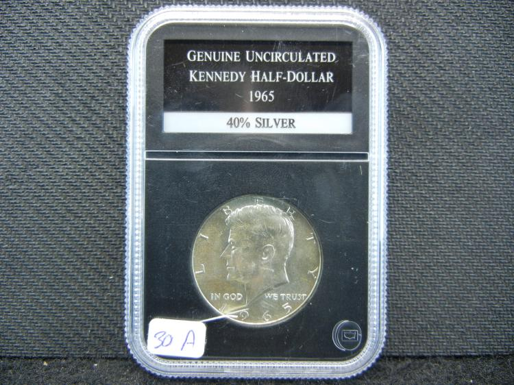 1965 Kennedy ½ Dollar. Authenticated Genuine.