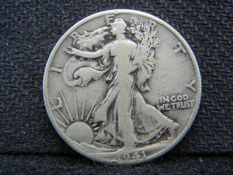 1941 Silver Liberty Half Dollar, (Nice Grade), 90% Silver!