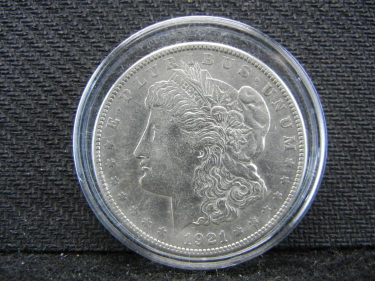 1921-S Morgan Dollar in Case