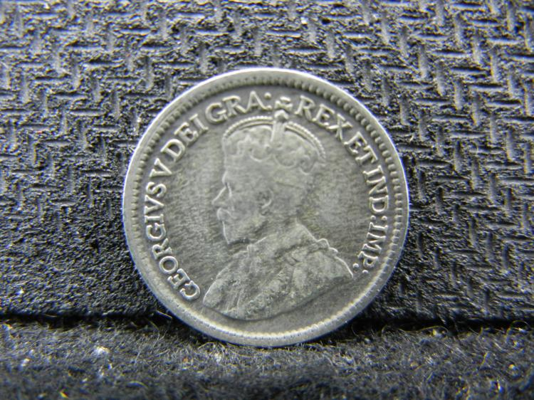 1914 Canadian 5 Cents - 92.5% Silver