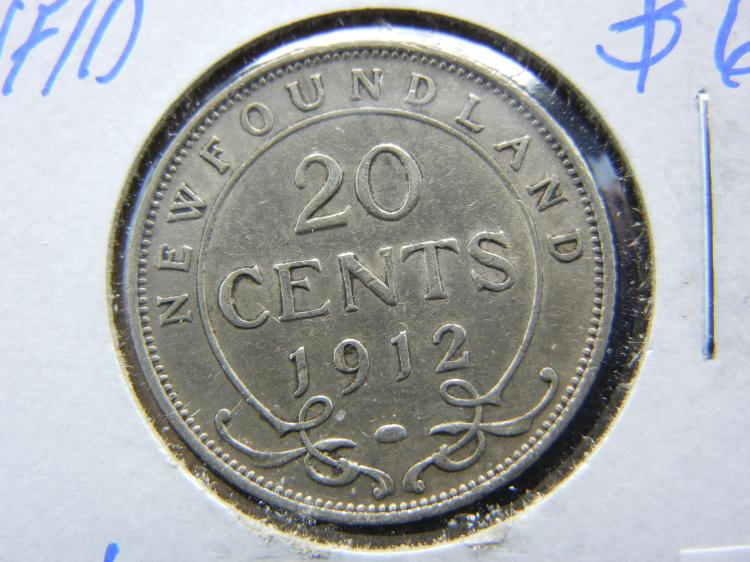 1912 Newfoundland 20 Cents - 92.5% Silver