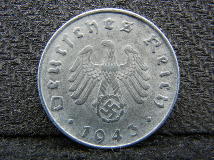 1943-A German 10 REICH PFENNIG