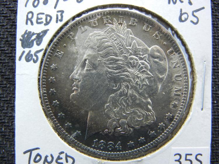 1884-O Morgan Dollar - Toned