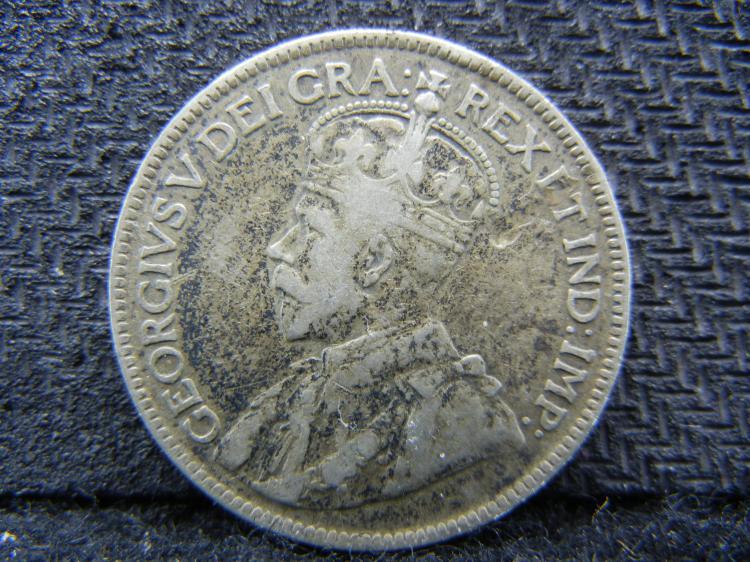 1917 Newfoundland 25 Cents - 92.5% Silver